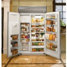 "GE ZSEP480DYSS Monogram 48"" Built-In Side-by-Side Refrigerator"
