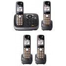 Panasonic KX-TG6544B 6544 B Cordles Phone for 110/220volts