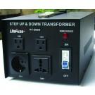 LiteFuze Heavy Duty LT-3000 Watts Voltage Converter Transformer