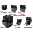 Litefuze WP-102U All inOne Universal Travel Adapter with USB Slot